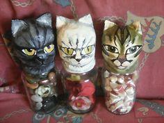 3 Cat-nopic jars