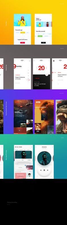 Mobile App Collection on Behance Ui Design Mobile, Ios App Design, Interface Design, User Interface, Webdesign Inspiration, Ui Inspiration, Card Ui, Mobile App Ui, Ui Web