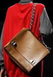 Nella collezione di borse #Prada prevalgono colorazioni scure e intense: largo spazio al nero, al marrone e al beige.