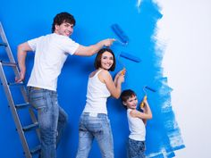 Painting Your Own Home: Tips to Make the Process Painless While it's might seem easier to hire professionals to paint the house, but with a little research you can find the job is not as intimidati… Young Family, Construction, Own Home, Reiki, Home Remodeling, Avatar, Photo Editing, Blues, Mood