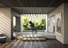 Yucatan House - Interior Rendering - RNDR Studio www.rndrstudio.it
