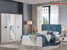 Dormitor alb sidef modern Rita - set complet Interior, Furniture, Design, Home Decor, Cots, Decoration Home, Indoor, Room Decor