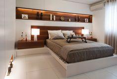Trendy home theater planejado pequeno ideas Bedroom Bed Design, Modern Bedroom Design, Home Bedroom, Bedroom Furniture, Home Furniture, Master Bedroom, Furniture Design, Bedroom Decor, Sofa Layout