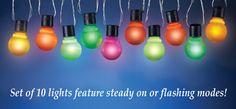 Color Changing Hanging Light Bulb String Lights
