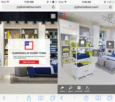 JCPenney needed to create an immersive platform for web and mobile users to experience their new stores. They wanted their visitors to browse their stores and shop via their website. http://jcphometour.com
