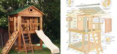 Amazing Kids Playhouse Plans – FREE!