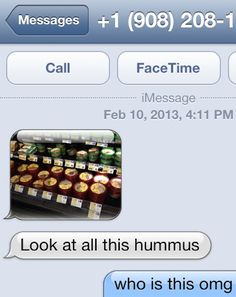 look at all this hummus