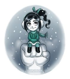 Winter Vanellope by daekazu on DeviantArt Disney Fan Art, Disney Style, Disney Love, Little Disney Princess, Disney Girls, Jelsa, Disney Marvel, Disney Pixar, Walt Disney