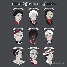 Great Women of Science {Set} by geeksweetie | cool idea for a gift for Science-y friends!