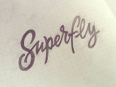 Superfly #typography