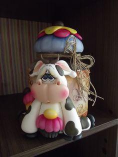 pote vaquinha cupkaque | Ketlin Hoffmann Arte Decorativa | Elo7