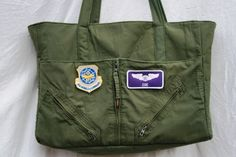 All Flight Suit Zoe Diaper Bag by YesterdaysUniforms on Etsy, $95.00