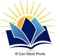 Book And Sun Logo Kindergarten Logo Education Logo Badge Design