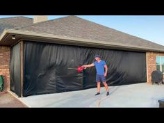 """See videos showing how to install mosquito netting curtains with """"tracking"""" top attachment. Mosquito Curtains, Mosquito Net, Home Landscaping, See Videos, Alternative, Landscape, Outdoor Decor, Top, Landscape Paintings"""