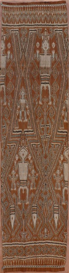 Indonesian Pau kumbu - Warp Ikat Textile from Kalimantan, Borneo, Indonesia. 1930 - 1945.