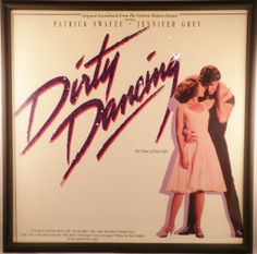 Glittered DIRTY DANCING Record Album Cover - Frame Included