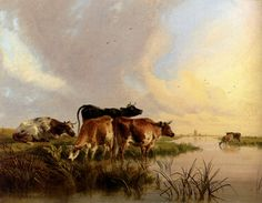 Cattle Watering, Thomas Sidney Cooper (1803-1902)
