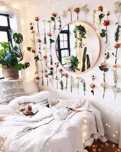 bedroom decor for small rooms & bedroom decor ; bedroom decor for couples ; bedroom decor ideas for women ; bedroom decor for small rooms ; bedroom decor ideas for couples Decoration Bedroom, Cute Room Decor, Floral Bedroom Decor, Flower Room Decor, Bohemian Decoration, Bohemian Wall Decor, Indie Room Decor, Hipster Decor, Decoration For Ganpati