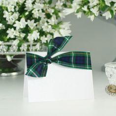 Campbell Tartan Wedding Placecard