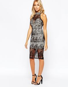 Boohoo Lace Bodycon Dress.   i love this dress