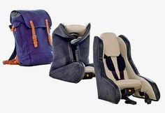 Assento infantil inflável para automóveis pode ser carregado em uma mochila - Hiper Original