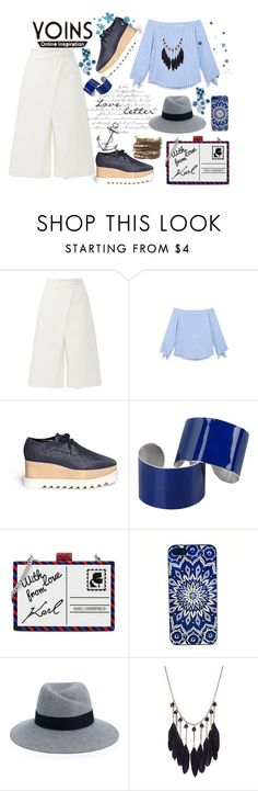 """Yonis BLUE STRIPED"" by jelena-topic5 ❤ liked on Polyvore featuring TIBI, STELLA McCARTNEY, Maison Margiela, Karl Lagerfeld and Maison Michel"