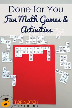 Are you after some more fun math activities and math games to make your life easier? This math activities pack brings together more than 138 pages of DONE FOR YOU math strategies and math worksheets for kids, covering a wide range of topics.