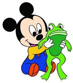 Baby Mickey w/Frog