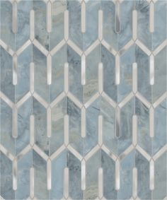 Chicago Grande--Marino Blue & Stainless Steel mosaic tiles from Mosaiquesurface.com