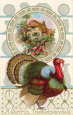 A Joyful Thanksgiving postcard printable