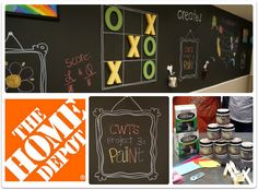 chalkboard playroom wall (when kids are older)