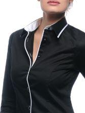 Chemisier femme Buick noir white edge
