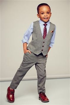 Grey Mini Suit. so cute for a little boy.