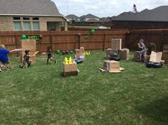 Obstacle course for nerf war