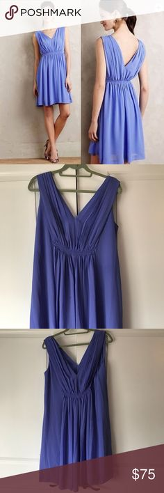 Anthropologie HD in Paris Lavana Dress Purple Anthropolgie HD in Paris Lavana Dress in a gorgeous lilac purple. Dress is made of polyester crepe, it has a soft fit and flare silhouette, and has a tie detail at the waist that you can tighten on each side. Anthropologie Dresses