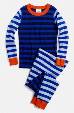 Hanna Andersson Two Piece Fitted Pajamas (Toddler)   Nordstrom - wish this came in Bear's Style - I LOVE stripes.