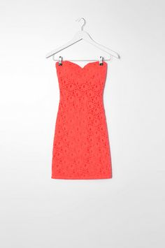 Orange lace bandeau dress #musthave #TALLYWEiJL