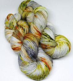 Hand Dyed Sock Yarn  SW Sock 80/20  Superwash by SpunRightRound