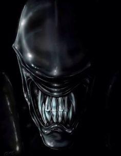Alien Giger Art, Hr Giger, Arte Alien, Alien Art, Giger Alien, Predator Alien, Alien Tattoo, Star Wars Drawings, Evil Art