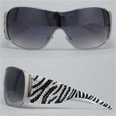Extra Large Zebra Sunglasses... www.jewelrybydonna.net