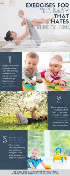 Tummy Time: Brain-Building Exercises for the Baby that Hates Tummy Time   ilslearningcorner.com