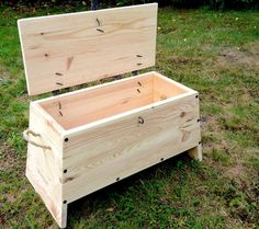 Viking chest made of pine, L: 53 cm W: 30