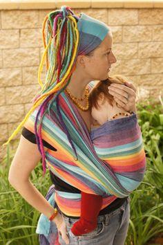 @PAXbaby Jillian Davidsson EXCLUSIVE Double Rainbow...one of the prettiest rainbows I've seen! LOVE her rainbow dredies & head wrap too! ;-)