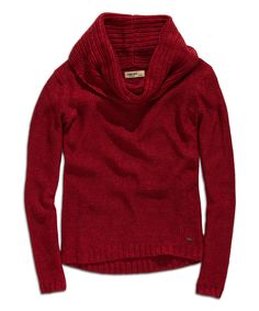 Look at this Red Cowl Neck Sweater on #zulily today!