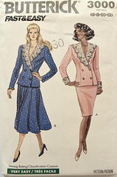 80s Fashion, Fashion History, Vintage Fashion, Easy Sewing Patterns, Vintage Sewing Patterns, Crochet Patterns, 1980s Costume, Vintage Dresses, Vintage Outfits