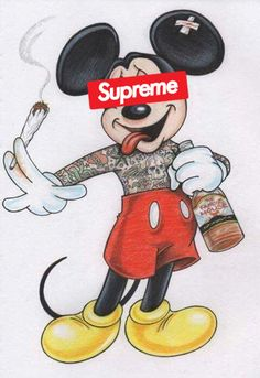 Mickey Mouse Supreme Oh, Mickey! Pinterest Supreme