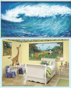 Wave Wall Minute Mural - Wall Sticker Outlet