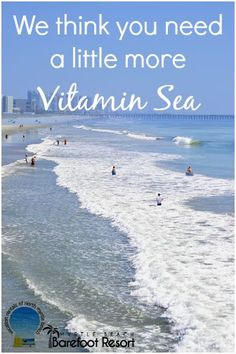 Do you agree? We have miles and miles of Vitamin Sea for you here in #MyrtleBeach! Plan your trip now! #Vacation #Beach #Ocean #Getaway