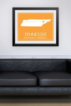 """University of Tennessee Map Wall Art - 31"""" x 37"""" by Sports Collection on @HauteLook"""