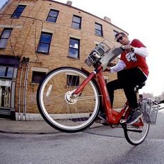 Is wheelie Wednesday a thing? Well, it is now! #cincyredbike